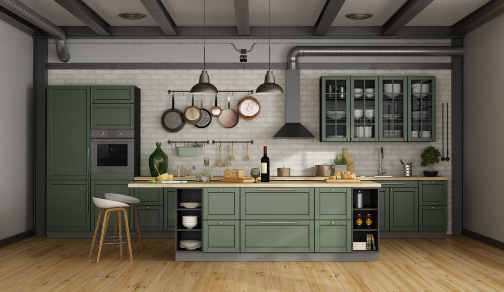 Green Kitchen Inspiration Cabinets