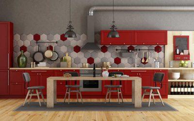 Red Kitchen Inspiration By Online Flatpacks